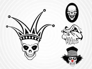 Weird dead skulls vector pack