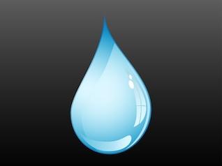 glossy water drop
