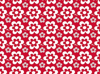 Floral flower graphics pattern vector