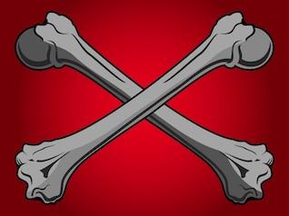 Skeleton bones pirate flag