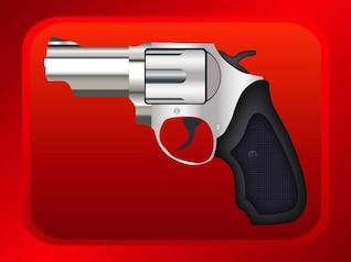 Realistic revolver metallic pistol