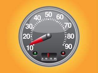 Vehicle speedometer vector design element