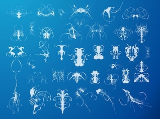 Blue ocean animals abstract background
