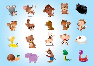 Animal Characters Vectors