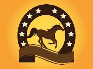 Horse company brand logo vector