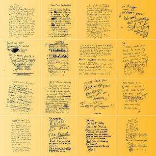 Handwritten script backgrounds