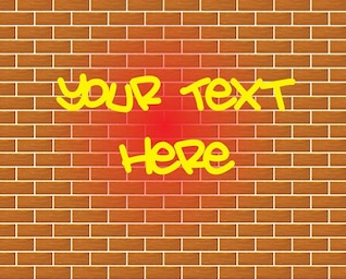 Graffiti brick wall drawing vector
