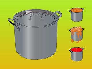 dinner cooking pots vector pack