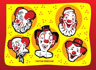 faces of funny clown