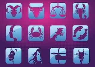 Horoscope symbols vector