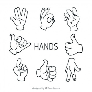 High five hands vectors sign