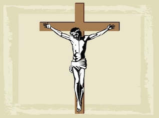 christianity religious holy jesus cross vector