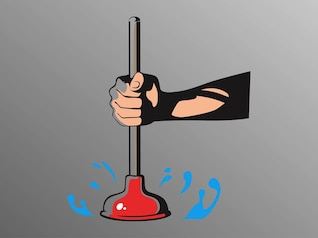 cartoon household Plunger vector pack