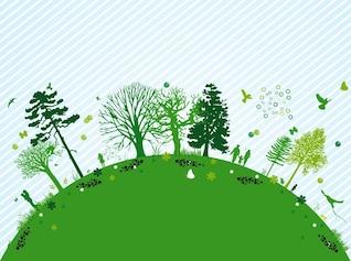 Nature ecology butterflies design vector