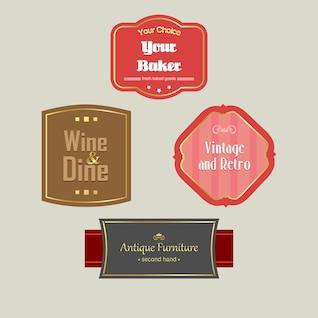 Pack of Vintage Labels
