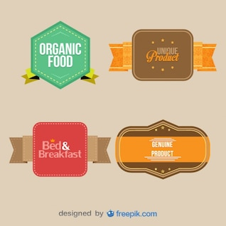 Vintage labels collection. Retro design elements