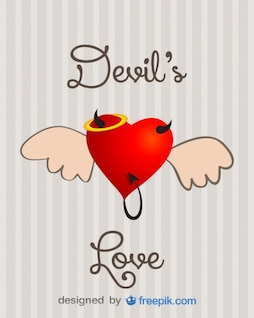 Evil Love Concept Vector Design