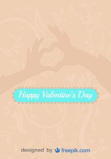 Love Sign Hands in Heart Shape Vector