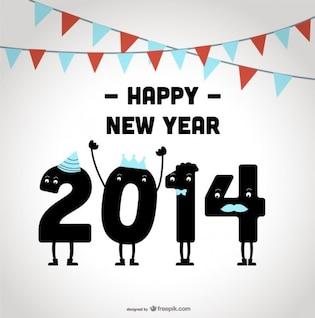 Happy New Year 2014 Celebrating Design