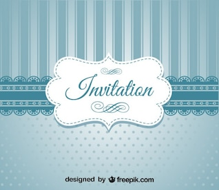 Retro Blue Elegant Invitation Design