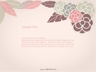 Floral Background Rose Design