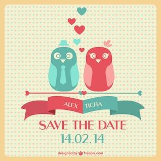 Wedding lovebirds card