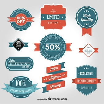 Vintage vector badge shapes