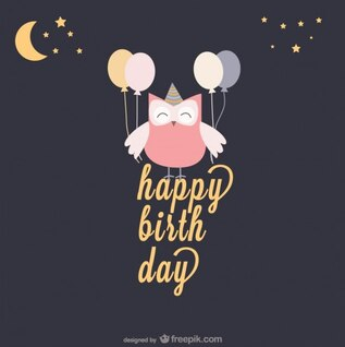 Vector happy birthday template