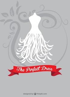Bride dress vector