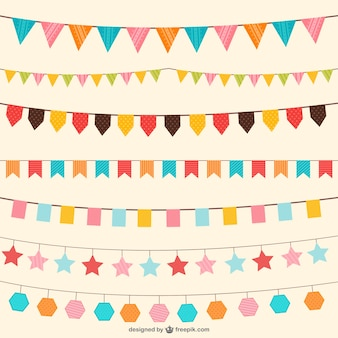 Birthday decorations vector ornaments