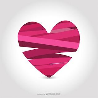 Ribbon heart design