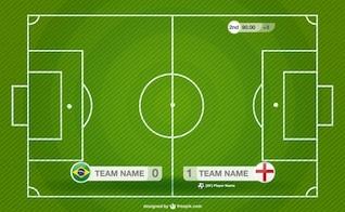 Soccer field illustration