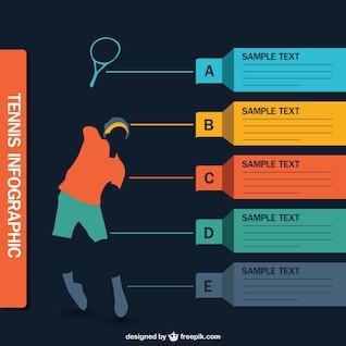 Tennis infographic vector
