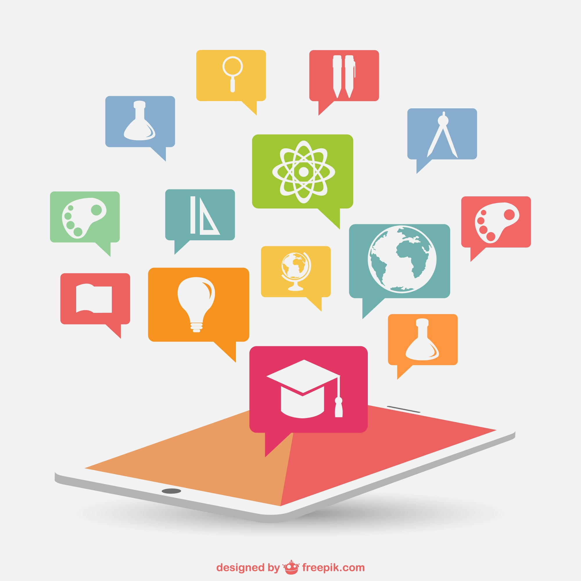 Infographic education new technology
