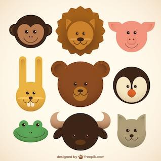 Baby animals icons