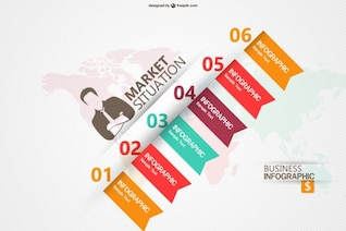 Marketing business infographic