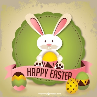 Easter rabbit vector art