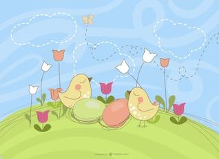 Easter chicken design