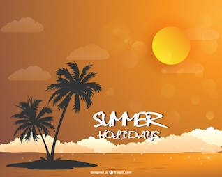 summer beach landscape wallpaper download