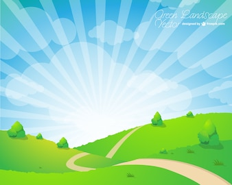 Free vector landscape illustration