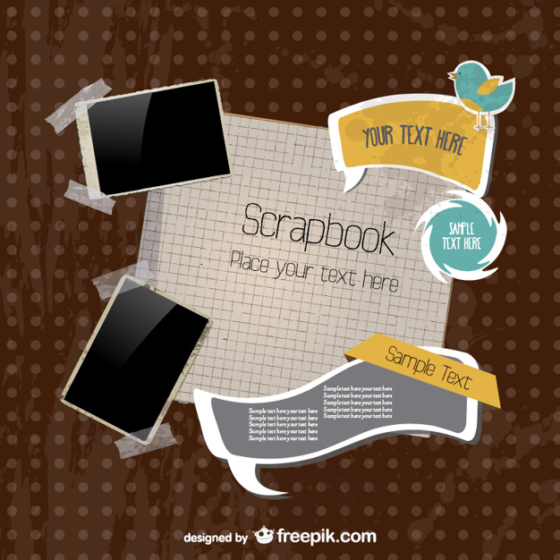Scrapbook postcard pack
