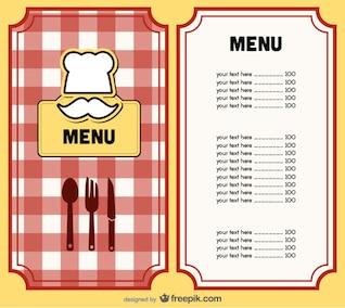 menu cover design    vector