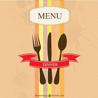 Restaurant menu vector simple design