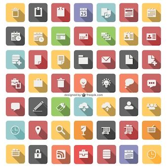 Flat icon set vector
