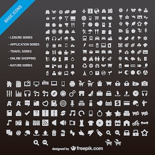 n number of web design small icon vector material