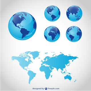 Globe travel vector graphics