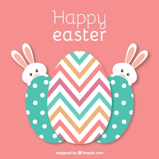 Easter eggs vector template