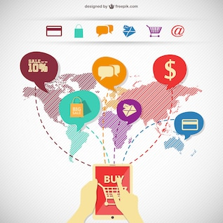 Shopping online infographic image