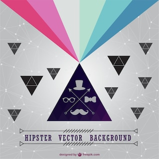 Hipster vector background