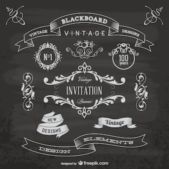 Blackboard anniversary graphic elements